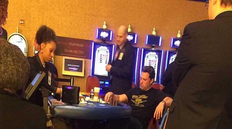 Ben Afflect At The Blackjack Tables