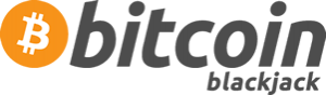 Bitcoin Logo With Blackjack Text