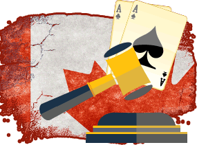 Canadian Legal Flag With Blackjack Icon