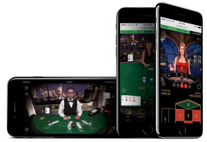 Mobile live blackjack games