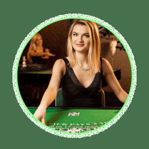 Live dealer blackjack dealer
